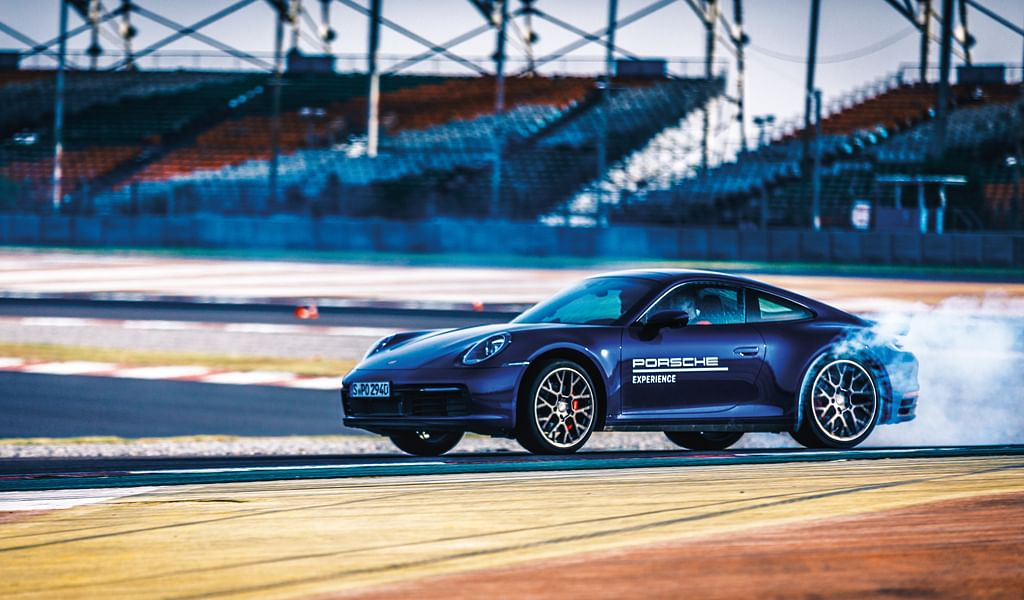 The Porsche World Road Show had the Ed drive around the BIC in the latest Porsche 911. And thanks to Ed's rally experience and the car's ability to provide millimetre-perfect precision, the 911 kept up with a vigorously driven GT3!