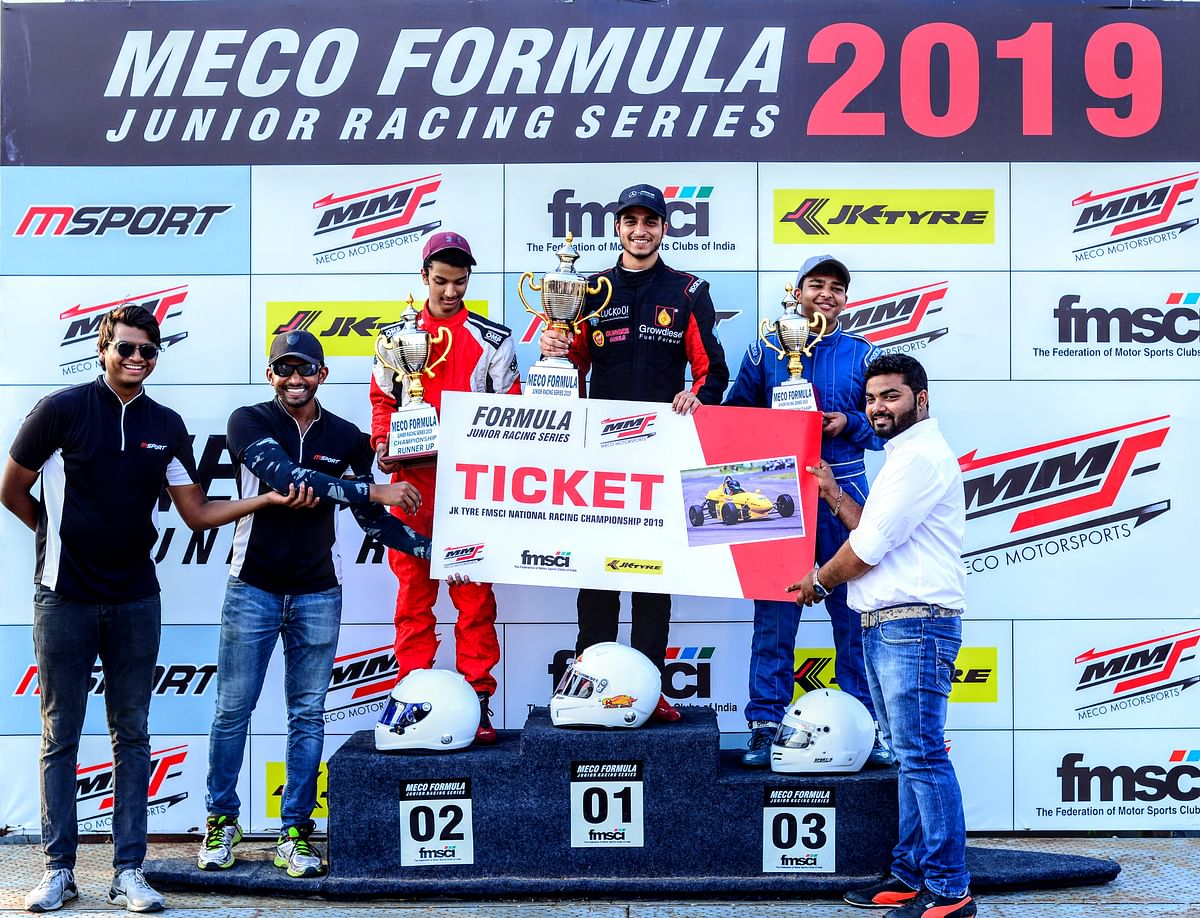 Kunal Maini tops the leaderboard at the Formula Junior Racing Series 2019