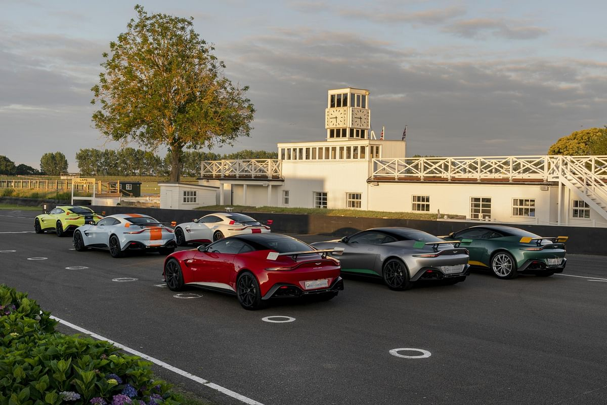 Aston martin's celebrates its racing history at the Goodwood Festival of Speed