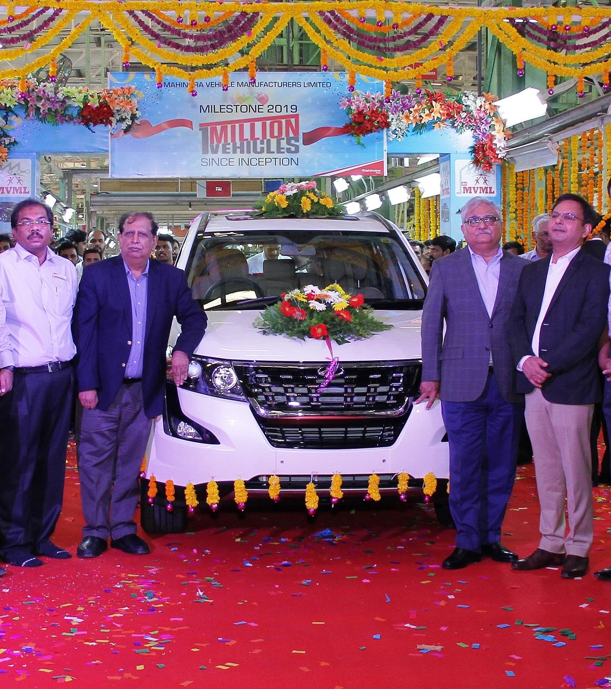 Mahindra rolls out one-millionth car from three plants simultaneously
