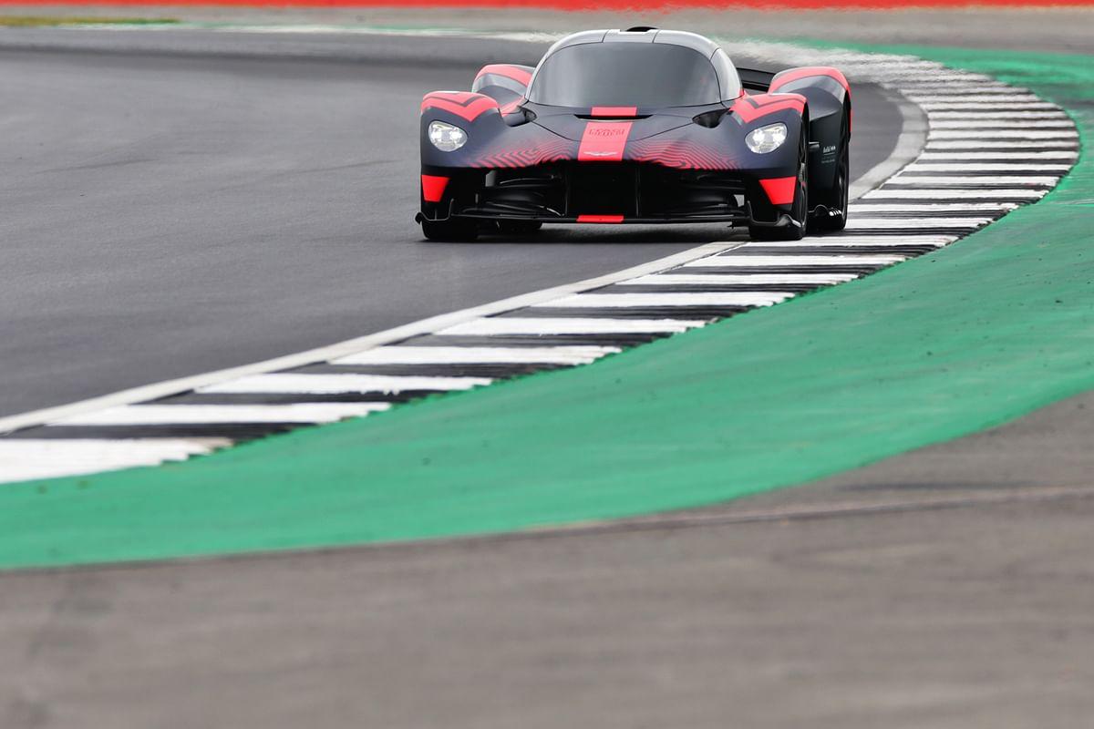 Aston Martin Valkyrie attacks the track at Silverstone