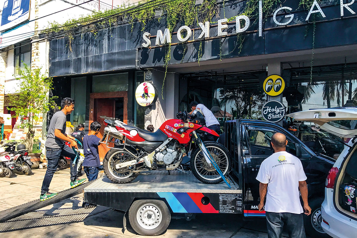 The bikes arrive after their TLC session in Bangkok