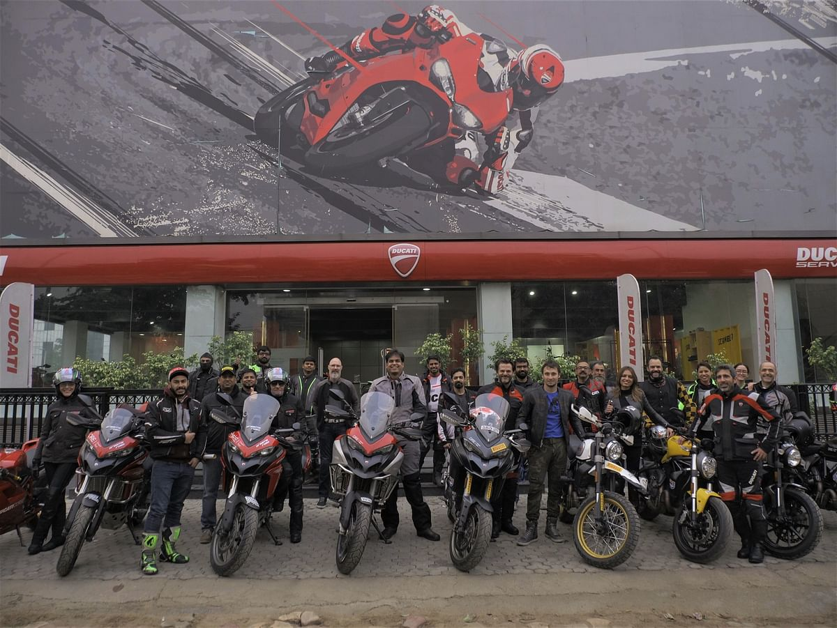 Dream Tour 2019 -The Royal Rajasthan ride –  flagged off by Ducati India