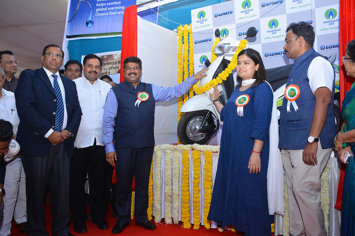 Mahanagar Gas Limited launches CNG-fuel kit for two-wheelers