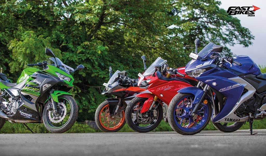 Sub-400cc faired bikes shootout: Ninja 400 vs RC 390 vs Apache RR 310 vs YZF-R3