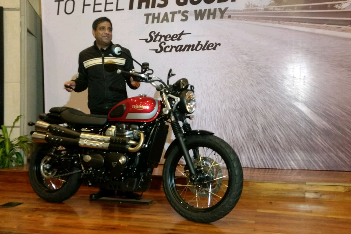 Triumph Street Scrambler launched for Rs. 8.10 lakh