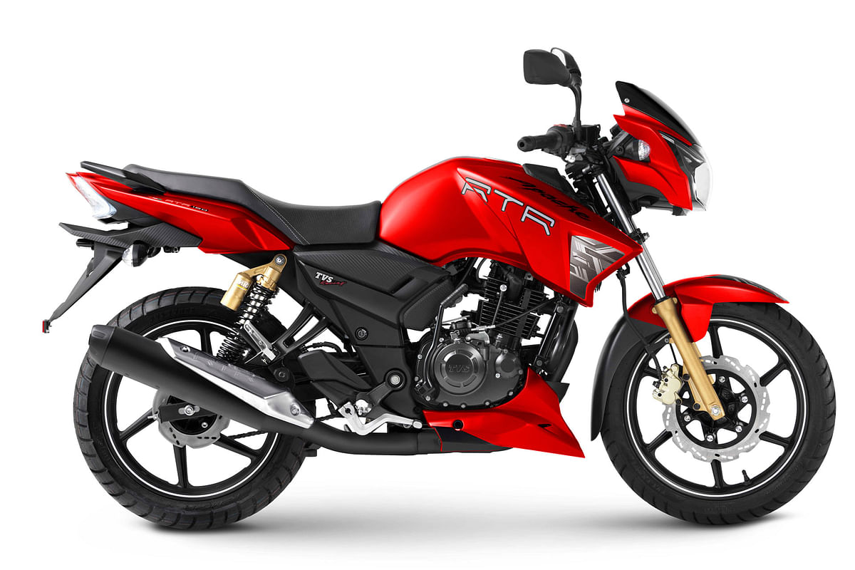 TVS introduces matte red shade for the Apache 160 and 180