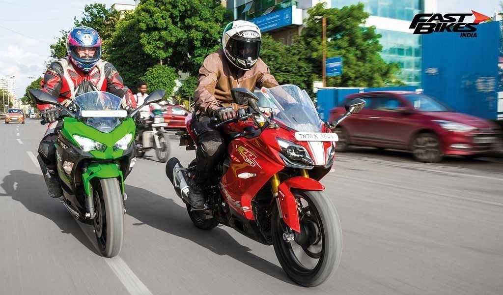 Sub-400cc faired bikes shootout: Ninja 400 vs RC 390 vs Apache RR 310 vs YZF-R3