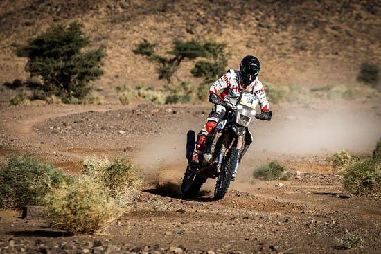 Hero MotoSports Team Rally bags a podium in the Merzouga Rally 2019