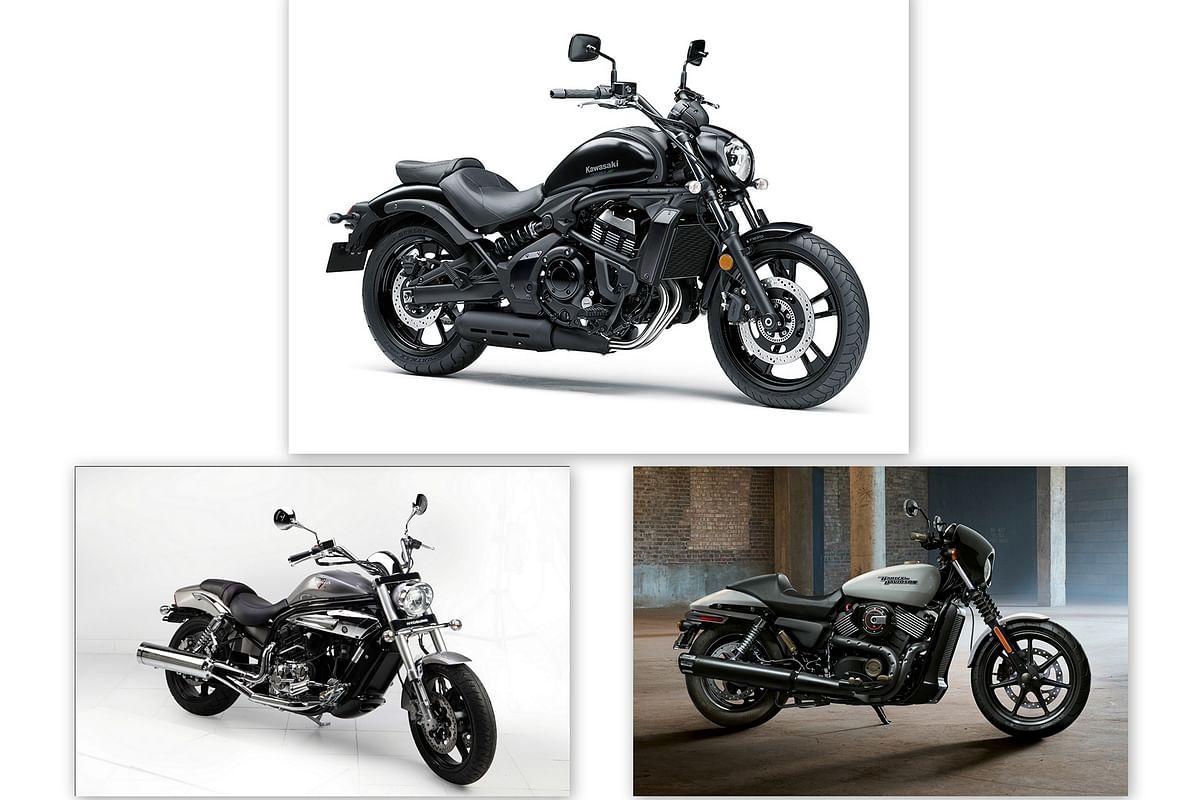 Spec comparo: Kawasaki Vulcan S vs Harley-Davidson Street 750 vs Hyosung Aquila Pro