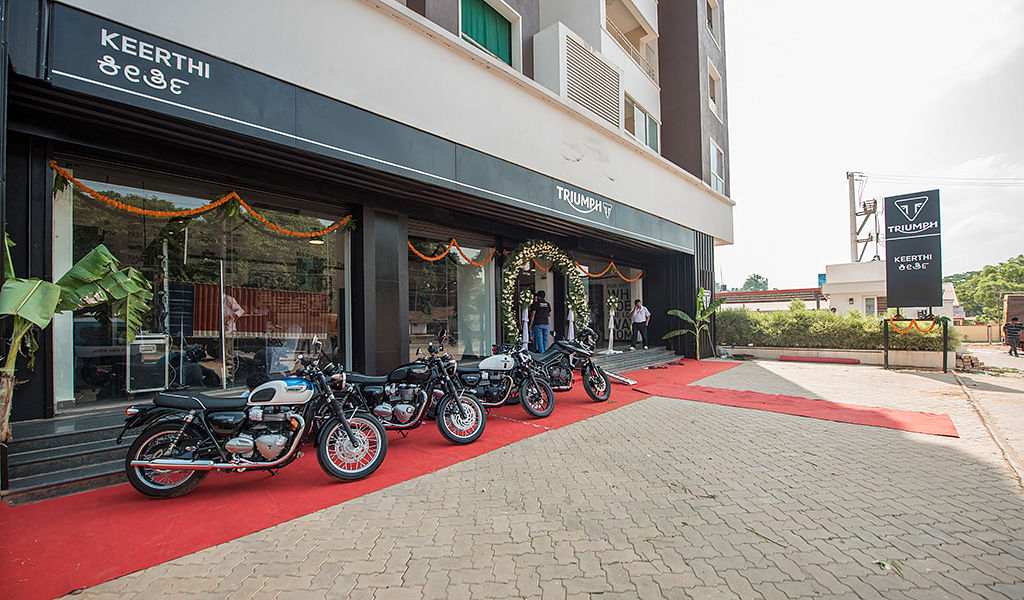 Triumph's new dealership in Mangalore