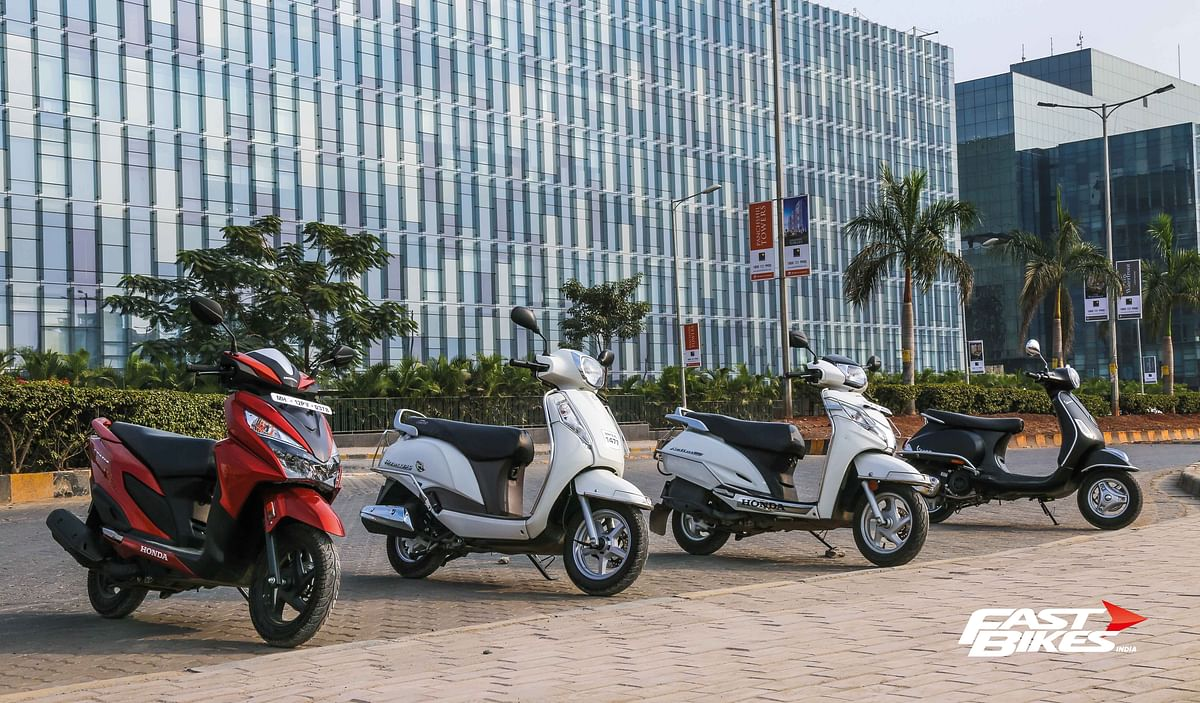 Scooter shootout: Honda Grazia vs Vespa 125 vs Honda Activa 125 vs Suzuki Access 125