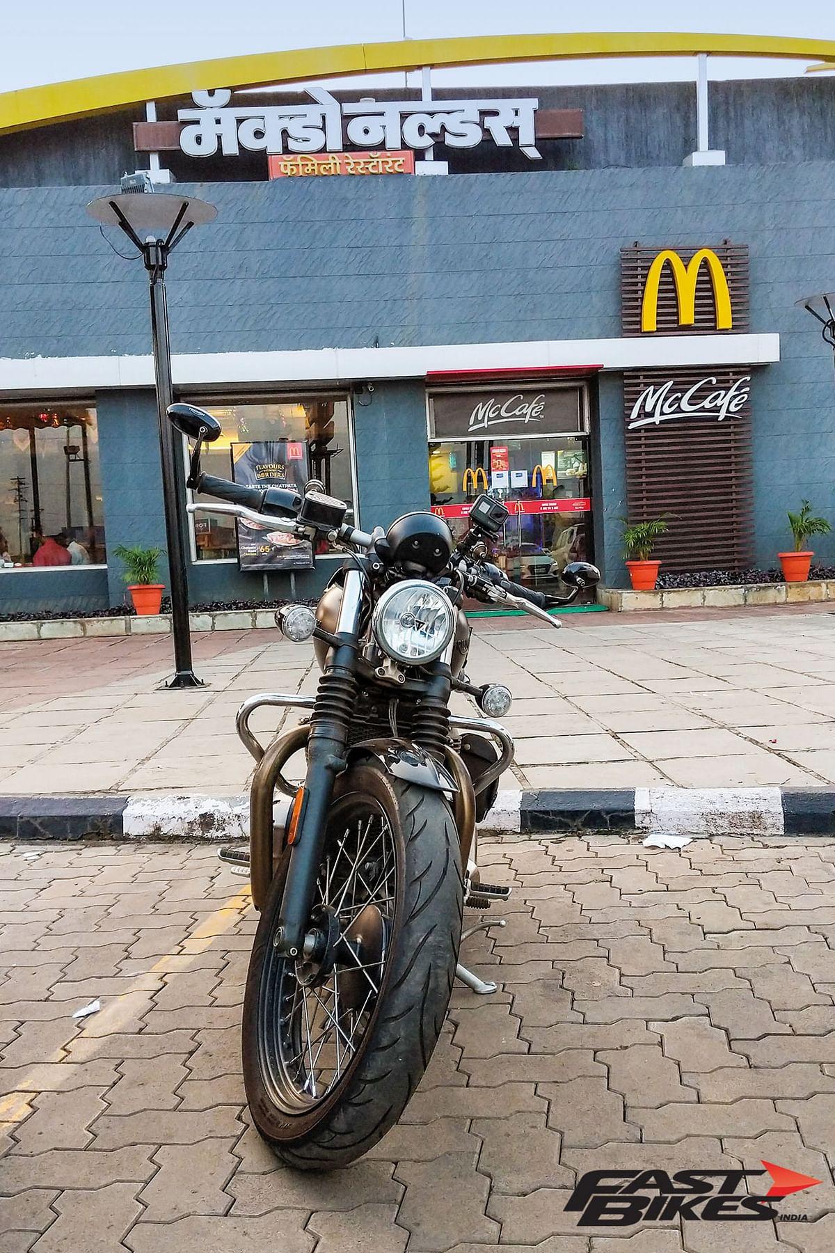 Mandatory pitstop at the McDonalds in Kolhapur