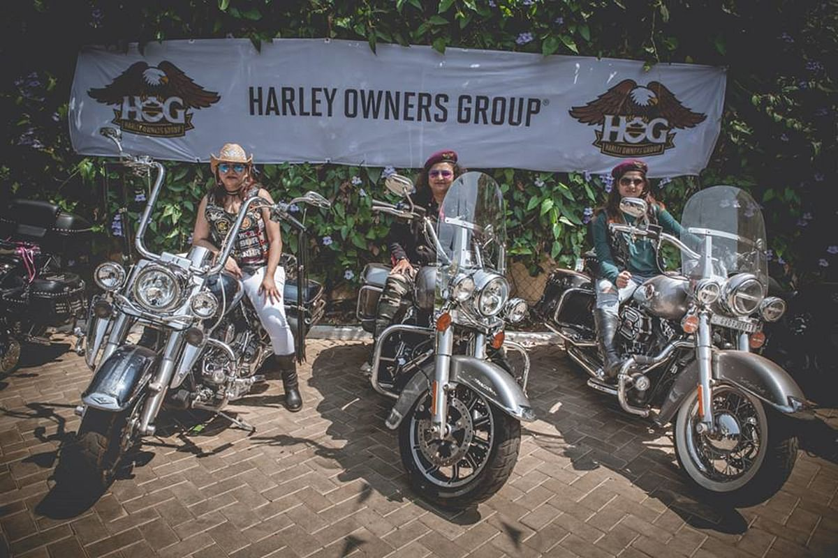 Ladies of Harley are all set for their first official ride