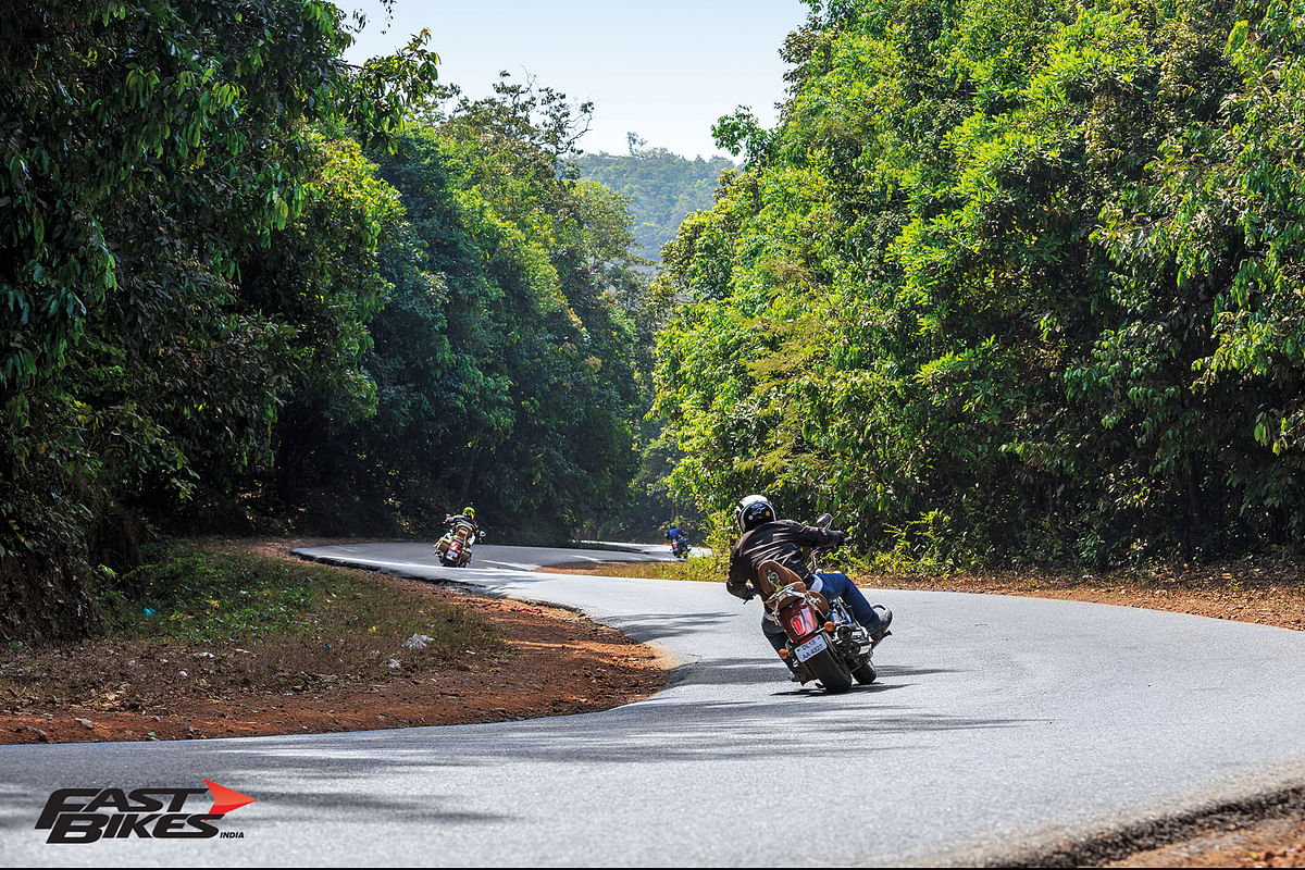 Comprehensively testing cruisers on the twisties
