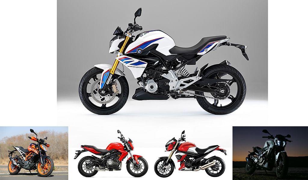 Spec comparo: BMW G 310 R vs KTM 390 Duke vs Bajaj Dominar 400 vs Mahindra Mojo XT 300 vs  Benelli TNT 300