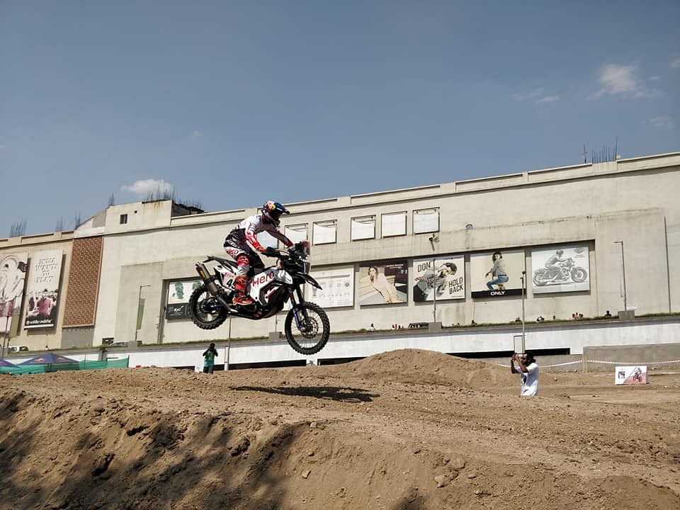 A day with Hero MotoSports' CS Santosh, India's Dakar hero
