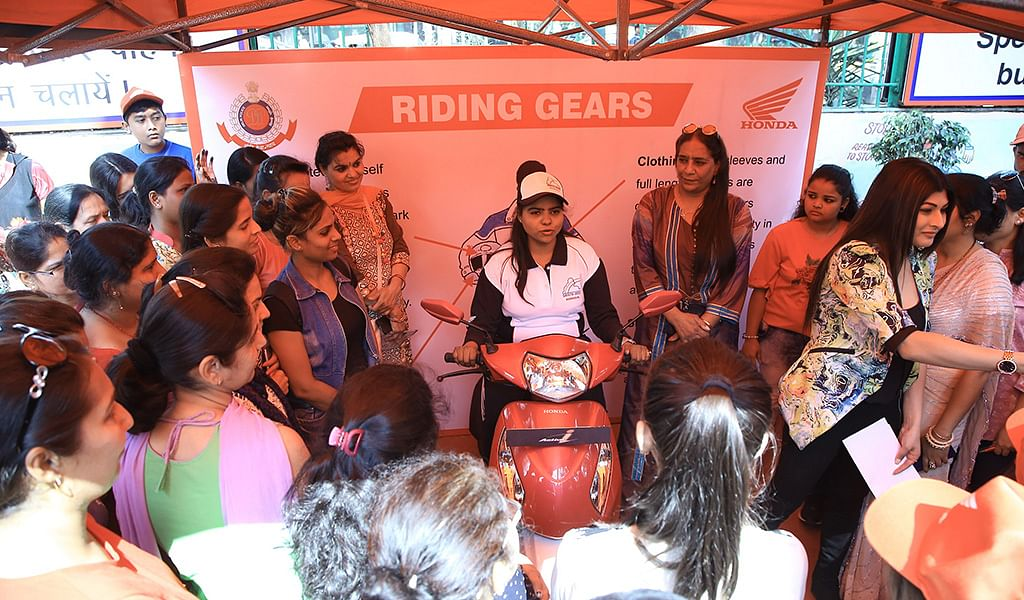 HMSI conducts various road safety activities for women