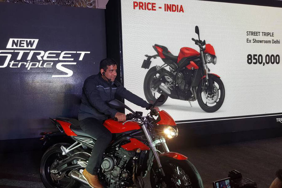 Triumph has launched the Street Triple S for Rs. 8.50 lakh