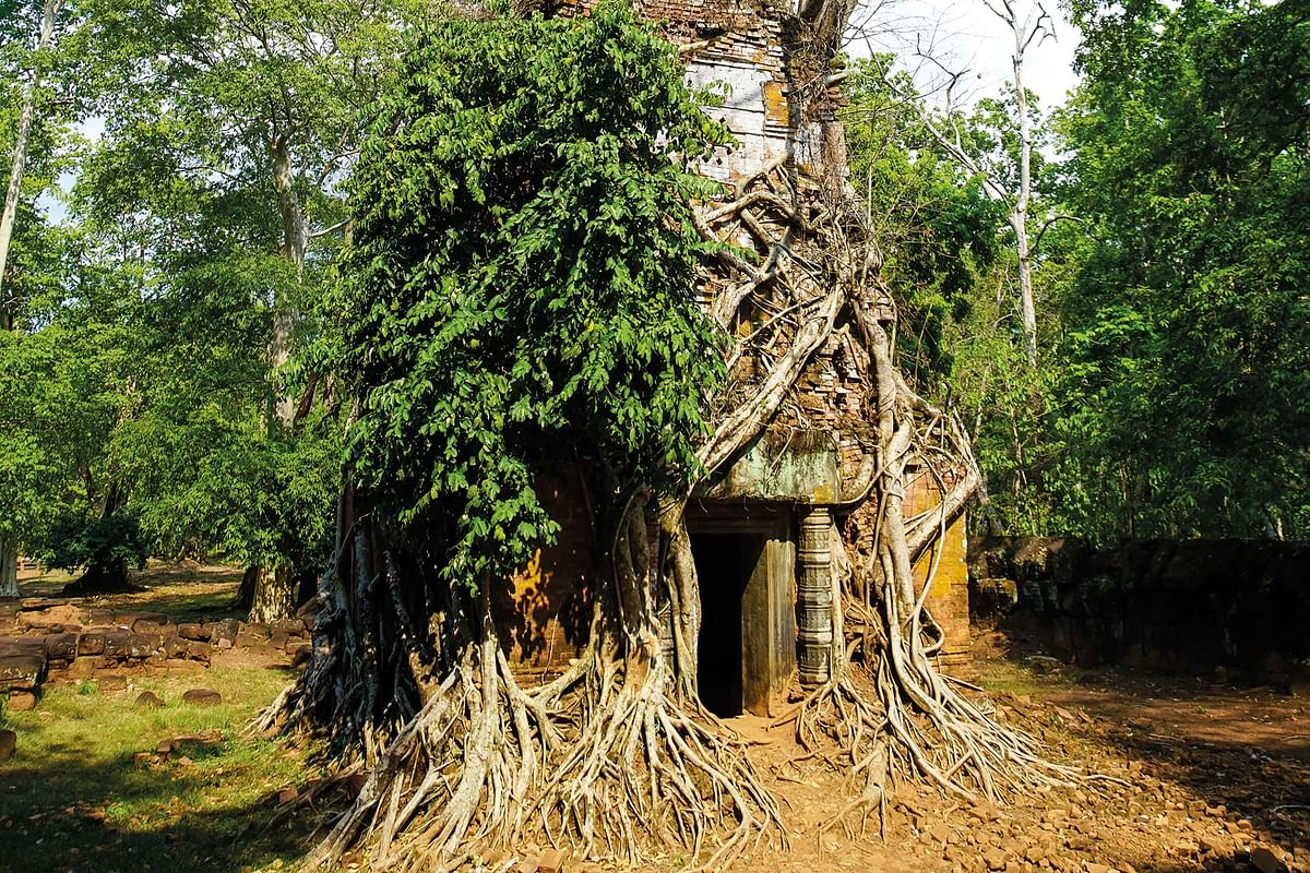 Believe it or not, this is a temple in Cambodia