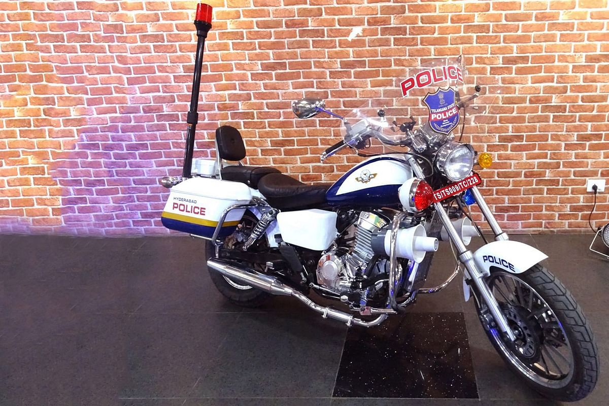 Hyderabad police gets the flashy Raptors Police Legacy motorcycle