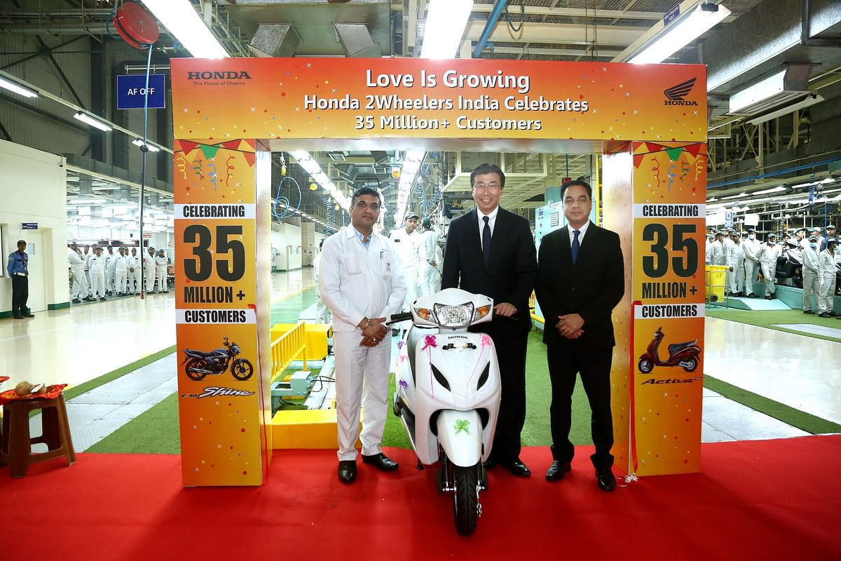 Honda 2Wheelers has now produced 35 million two-wheelers in the country