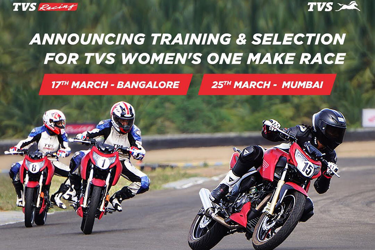 TVS Racing announces training and selection of its women's One Make series
