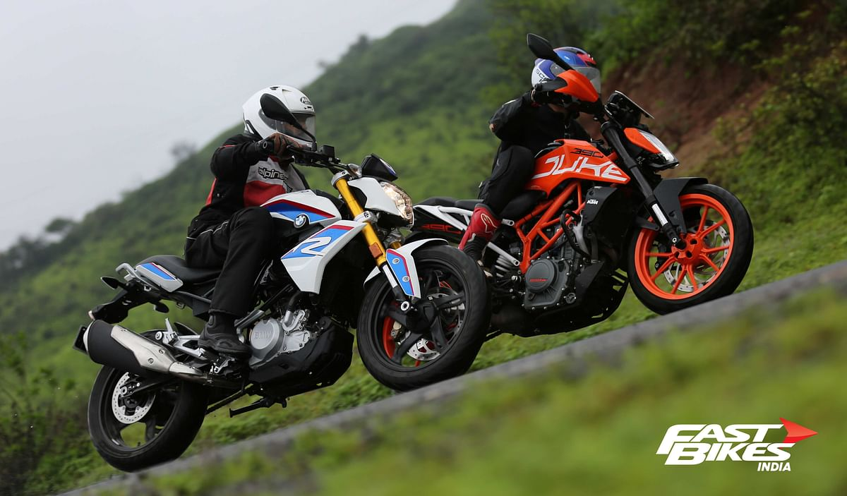 Street Naked shootout – KTM 390 Duke vs BMW G 310 R