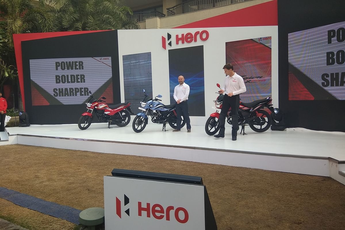 Hero MotoCorp unveils three motorcycles
