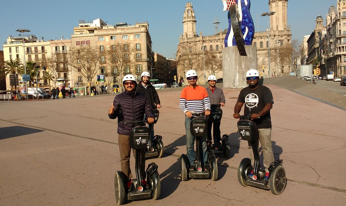 Me (in the centre) with my Segway tour group