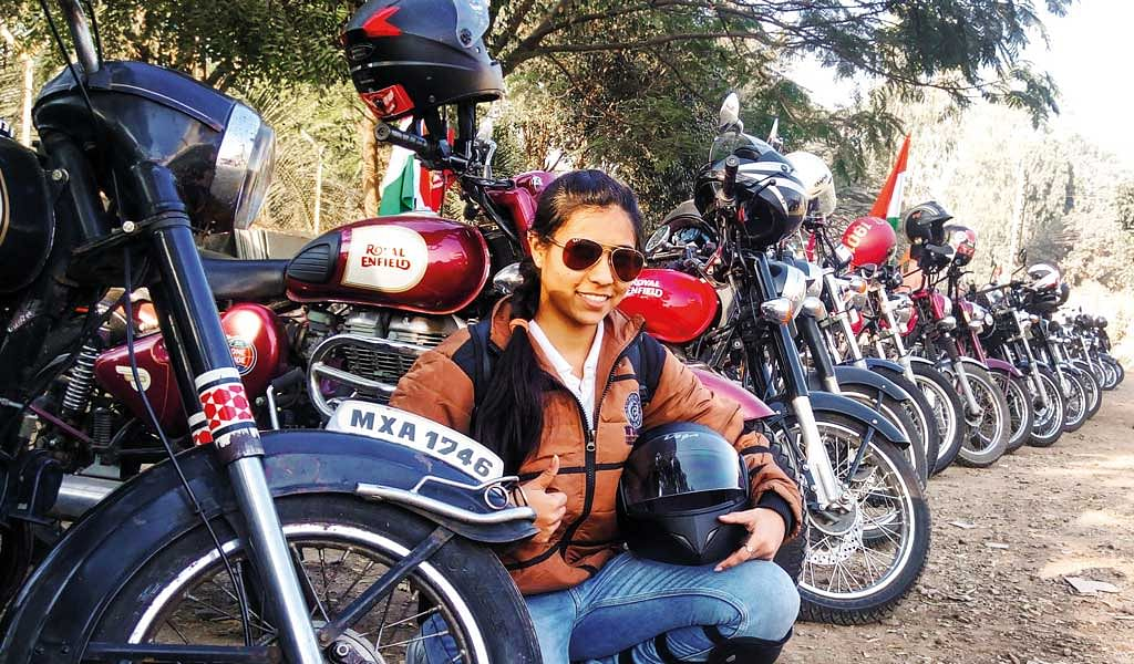 In conversation with Tejal Dhumal, a graphic designer and motorcycle rider