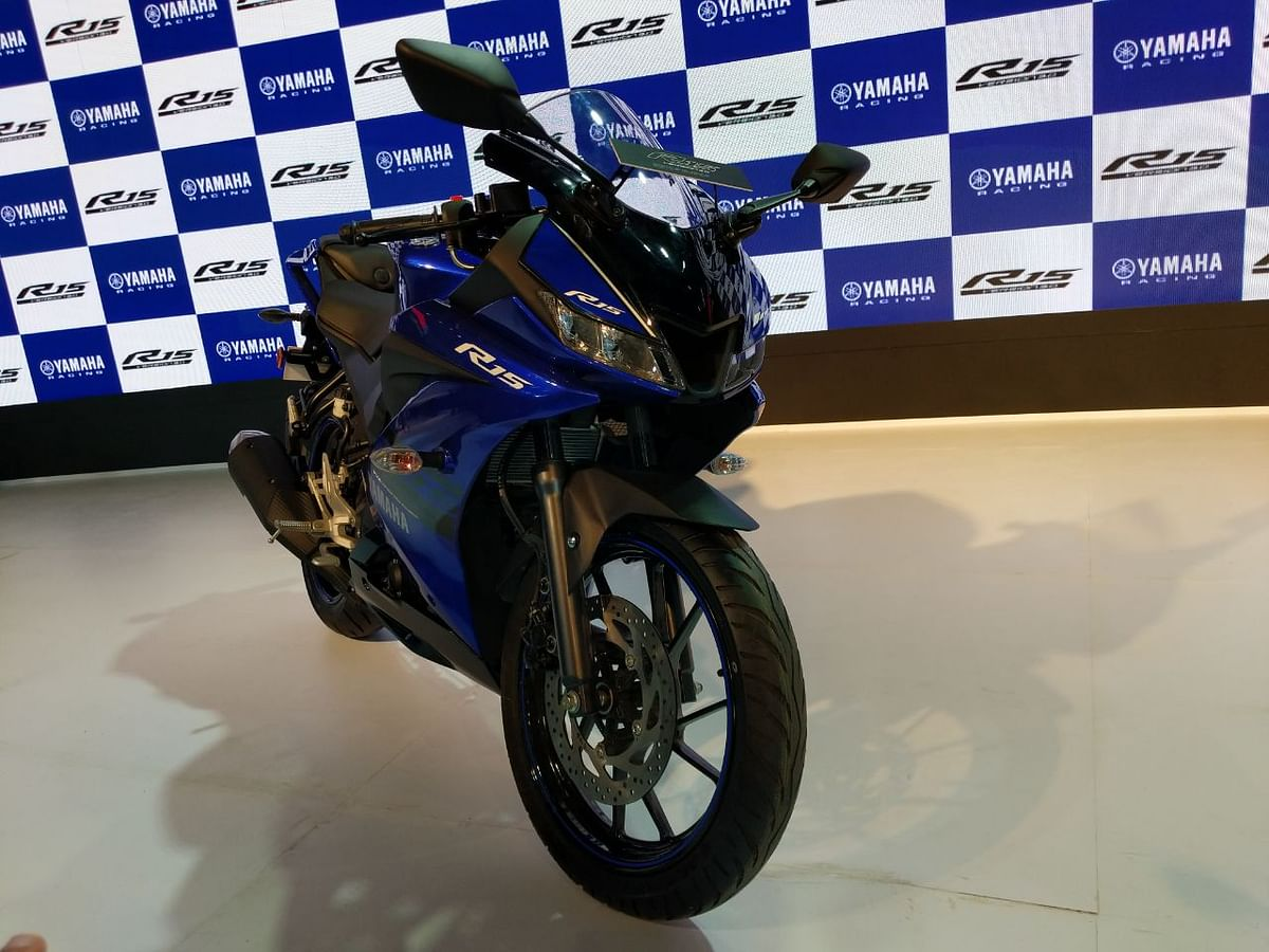 Auto Expo 2018: Yamaha launches the YZF-R15 V3.0 at RS. 1.25 lakh(ex-showroom)