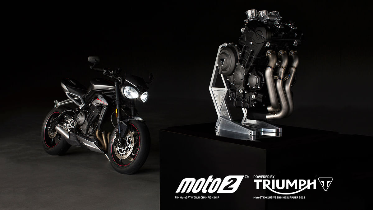 Street Triple 765's engine to be used in Moto2