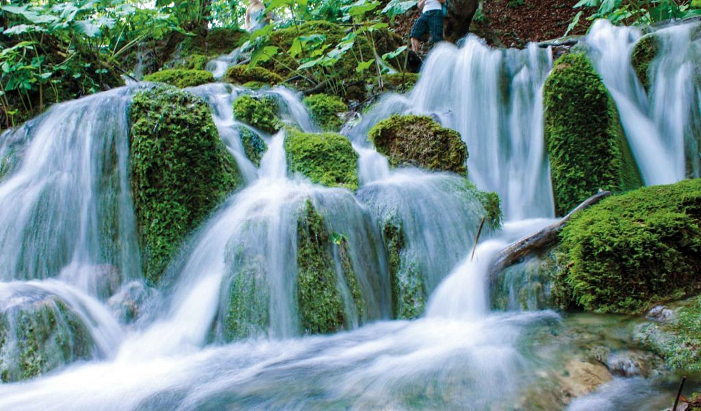 Plitvichka National Park in Croatia, taking the meaning of Go Green to a whole new level