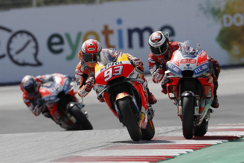 The battle became intense between Marquez and Lorenzo in the final laps
