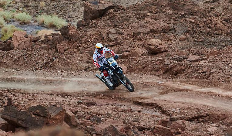 Hero MotoSport Team rally shows a promising start at the Merzouga Rally 2019