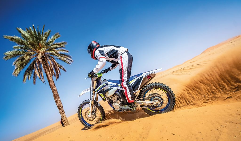 Sherco TVS – Riding on sand