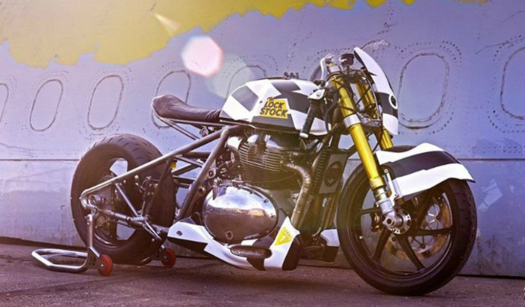 Royal Enfield LockStock dragster motorcycle breaks cover in London