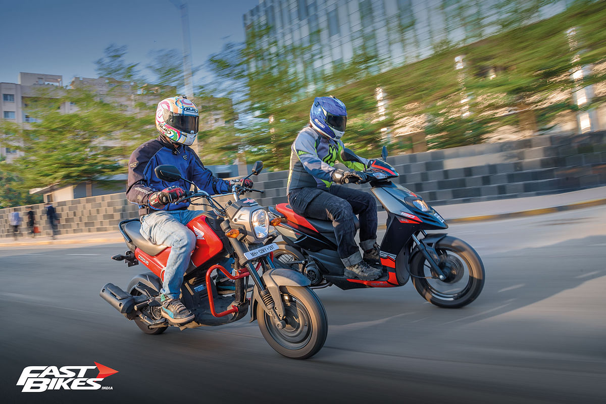 Monkey Business: Aprilia SR 150 and Honda Navi