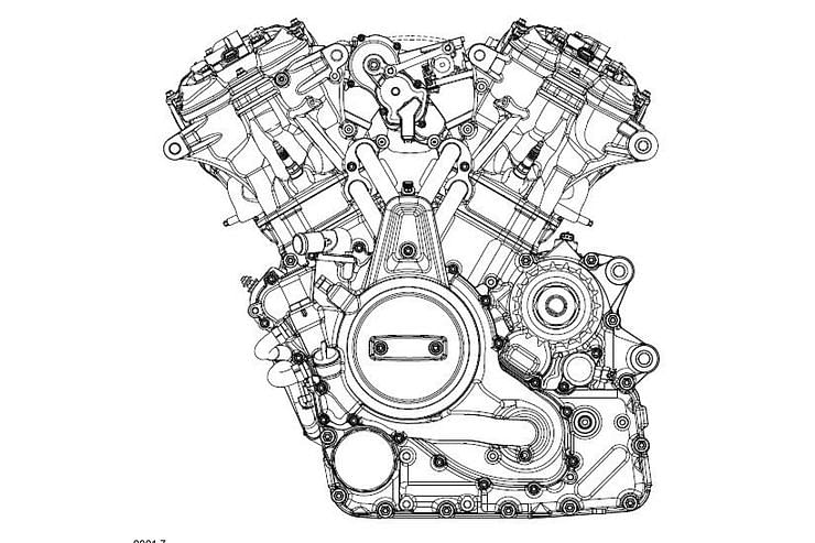 Harley patents new 60-degree V-twin motor for future middle-weights