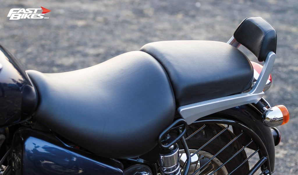 Comfortable for both, rider and pillion
