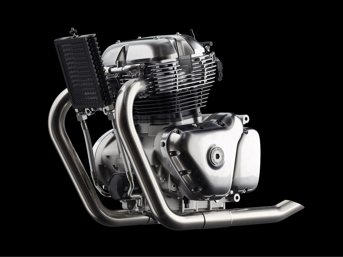 Royal Enfield reveals an all-new twin cylinder engine