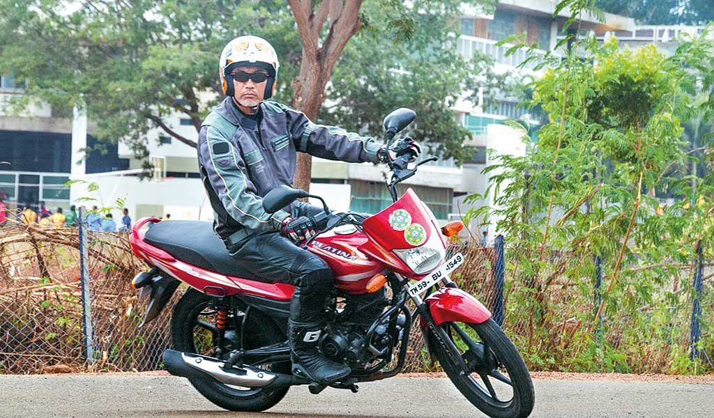 The Platina tips in quicker, a trait that Bajaj wanted the motorcycle to have