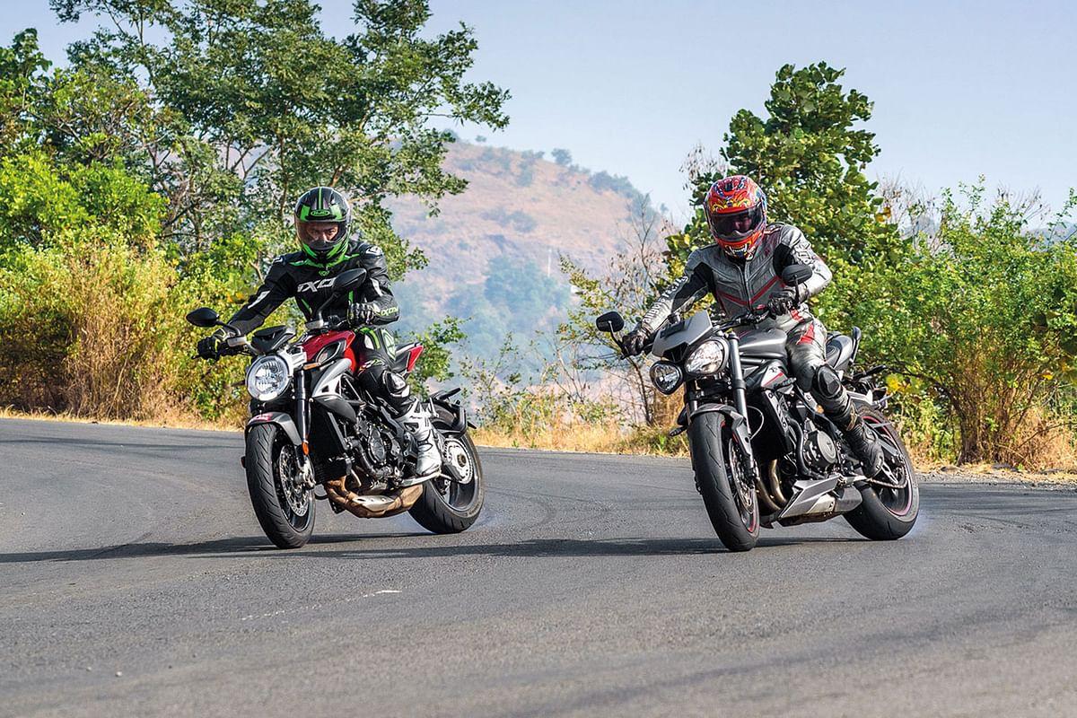 Triumph Street Triple RS vs MV Agusta Brutale 800
