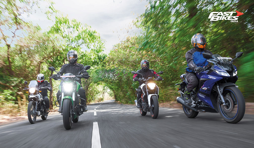 Four-way paradox - Best sub 2 lakh motorcycles.