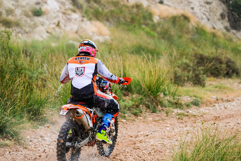 Ashish Raorane finishes at the FIM BAJA Aragon