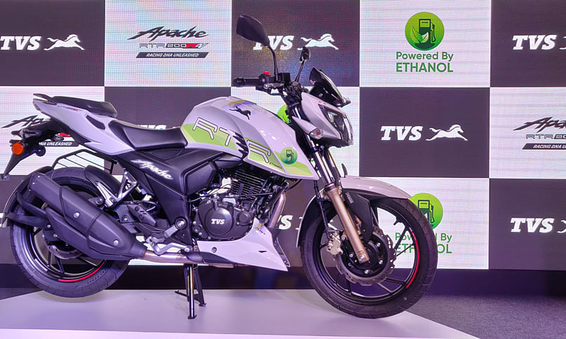 TVS Motor Company has launched India's first ethanol based motorcycle- the Apache RTR 200 Fi E100