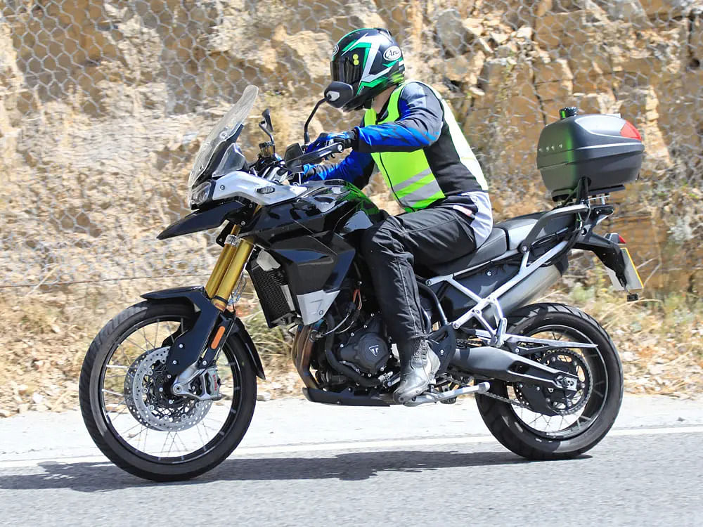 New Triumph Tiger spotted testing