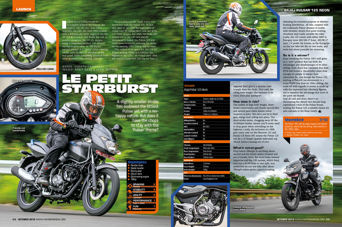 What's inside the October 2019 issue of Fast Bikes India magazine?