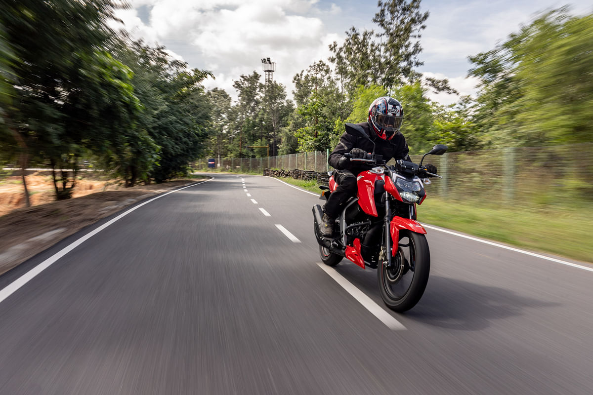 The TVS Apache RTR 200 4V uses Eurogrip tyres
